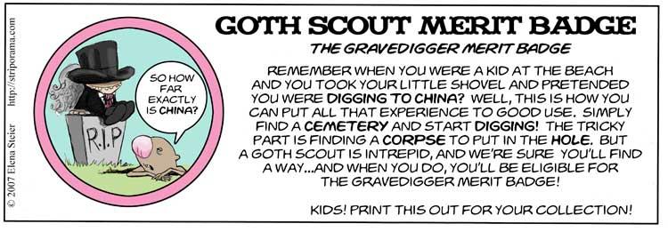 Gravedigger Merit Badge